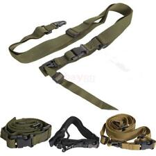 Adjustable Tactical 3 Point Rifle Sling Bungee Gun Strap Swivels System Hunting