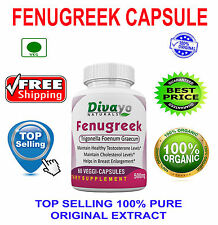 Top Quality Fenugreek 500 mg Capsules Dietary Supplement Free Ship