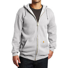 Carhartt Workwear Midweight Mens Hoody Zip - Heather Grey All Sizes