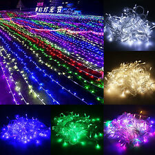 30m 50m 100m Christmas String Fairy Lights In/Outdoor Xmas Home Party Waterproof