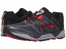 BROOKS CASCADIA 11 ANTHRACITE BLACK RED MENS RUNNING SHOES **ALL SIZES
