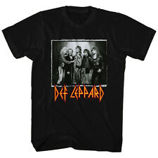 Def Leppard Mens New T-Shirt World Tour Licensed S/S Black 100% Cotton SM - 2XL