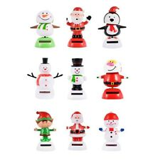 Solar Power Flip Flap Dancing Snowman Santa Smiley Christmas Doll Auto Gift Toy
