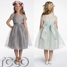 Flower Girl Dresses, Bridesmaid Dresses, Grey Dress, Green Dress, 2 - 8 years