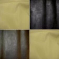 Leatherette Leather Look Brown Cream Black faux leather Fabric Material 140cm