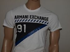 Armani Exchange Authentic Right Angle Logo T Shirt White NWT