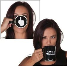Creative Have a Nice Day Coffee Mug Middle Finger Funny Cup for Coffee Milk Tea