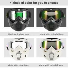 Mortorcycle Motocross Ski Detachable Goggles Face Mask Mouth Filter Cool N5D8