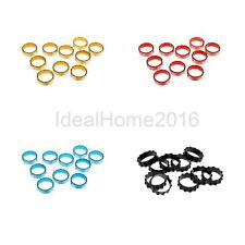 "10Pc Alloy Cycling MTB Road Bicycle Bike Headset Stem Spacer 1 1/8"" 10mm 4 Color"