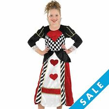 Childs Girls Queen of Hearts Alice in Wonderland Fancy Dress Party Costume