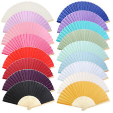 Wedding Bridal Party Folding Chinese Bamboo Hand Held Dance Fan Cool Summer Gift