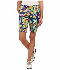Loudmouth golf womens BERMUDA SHORTS Shagadelic Blue 25