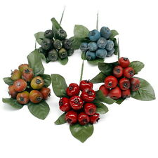 12 x Berries Pick approx. 6cm, various colours, artificial, Fruits/ TOP