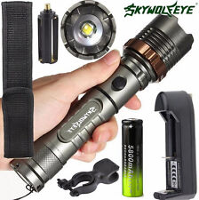 6000LM XM-L T6 LED Tactical Flashlight Zoomable Torch Lamp+ Battery+ Charger Kit