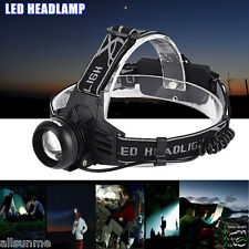 5000 LM Cree XM-L T6 LED USB Rechargeable 18650 Headlamp Headlight Head Torch US