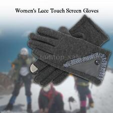 Winter Gloves Women's Stylish Lace Touch Screen Gloves Warm Winter 1 Pair C5W0