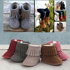 Newborn Baby Snow Tassel Boots Soft Sole Warm Baby Boots Crib Shoes Dreamed