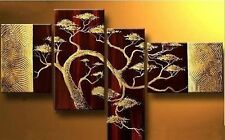 Pure Manual Modern Abstract Huge Wall Art Oil Painting On Canvas,Golden trees