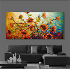 Large Modern Hand Abstract Art Oil Painting Wall Decor canvas,Flower, sunflower