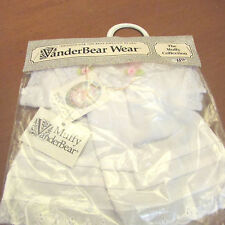 VanderBear Wear, The Muffy Collection,White dress/bonnet,In sealed package
