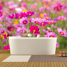 Pretty Pink Field Of Cosmos Flowers Floral Wall Mural Landscape Photo Wallpaper