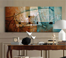 2016 NEW-Hand-Painted Mordern Abstract Oil Painting Wall Art Home Decor Blue