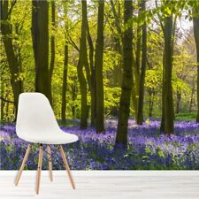 Purple Flowers Wall Mural Forest Trees Photo Wallpaper Living Room Bedroom Decor