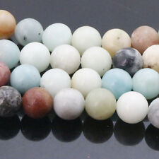 "Natural Round Amazon Stone Gemstone Loose Spacer Beads 15""4/6/8/10/12MM"