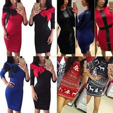 Winter Autumn Sexy Women's Long Sleeve BodyCon Cocktail Party Pencil Mini Dress