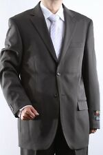 MENS TWO BUTTON SUPERIOR 100 OLIVE DRESS SUIT, SML-60212S-60205-OLI