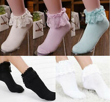 Ruffle Frilly Princess Girl Cute Fashion Lace Hot Ankle Socks Sweet Women New