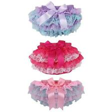 0-3Y Baby Girl Lace Ruffle Frilly Pants Bloomers Baby Nappy Cover Shorts Bottoms