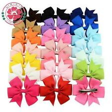 Clips Baby New 1PC Big Hair Grosgrain Ribbon Boutique Fashion Bow Hairpin Girls