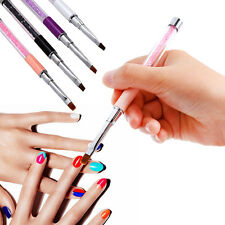 Painting Drawing 4Colors Nail Art Pen Acrylic Tips UV Gel Polish Brush Tool Set