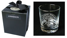 Clan Crest Engraved Whisky Tumbler in Gift Box - 50+ crests A-MacD