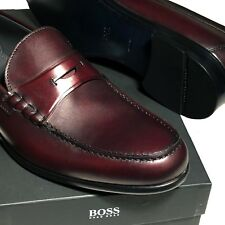 New HUGO BOSS Brown PRADOTS Suede Dress Mens Oxford Shoes Formal Casual Moctoe