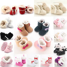 Newborn Baby Infant Toddler Boy Girl Snow Boots Crib Shoes Prewalker Size 123 SD