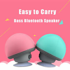 Cute Mini Bluetooth Suction Cup Super Bass For Mobile Phone Speaker Blk Blue