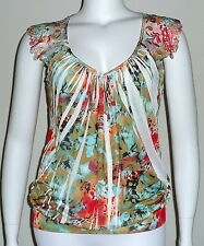 Simply Irresistible Sublimation Lace V-neck Tank Tunic Top - Plus 1X 2X - New!