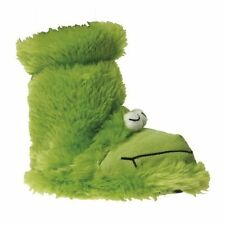 BOYS GROSBY GREEN FROG RIBBET BOOTIES BOOTS SLIPPERS WINTER NIGHT SHOES SZ 4-12