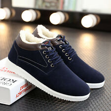 New Men's Winter Snow Boots Suede Casual Thicken Sneakers Cotton Warm Flat Shoes