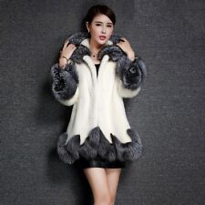 Fashion Womens Faux Fur Collar Hooded Warm Coat Winter Casual Outerwear Overcoat