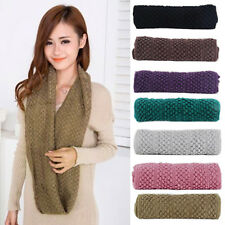 Women Winter Warm Infinity Wrap Shawl Cable Knit Cowl Neck Long Scarf