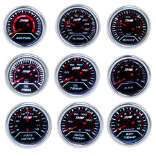 52mm LED AUTO CAR Boost/Water/Oil Temp/Pressure/Tachometer/Volt/AFR/EGT Gauge