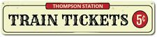 Personalized Train Station Tickets 5 Cents Family Name Man Cave Sign ENSA1001512