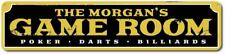 Family Game Room Sign, Personalized Poker Darts Billiards Sign ENSA1001405