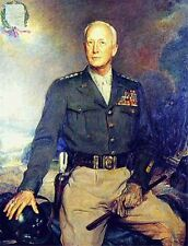 General Patton Handcraft Portrait Oil Painting on Canvas Art 24''x36''