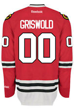 Christmas Vacation Clark GRISWOLD #00 Chicago Blackhawks Home Reebok NHL Jersey