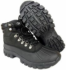 LABO Men's Winter Snow Work Boots Shoes Waterproof Insulated 602 (Black & Brown)