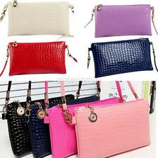 New Vintage Lady PU leather Shoulder Handbag Party Envelope Clutch Tote Bag New